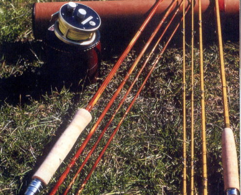 Midge rods, canne in bambu