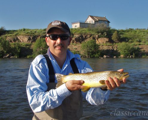Pesca a mosca, canne in bambù, Henry's Fork river