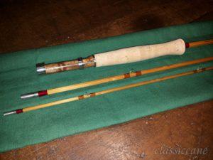 Canna in bambù, pesca a mosca, Falchini rod.